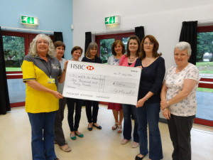 cheque presentation to Air Ambulance 2014